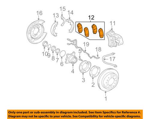 TOYOTA OEM Brake-Rear Pads 0446660090