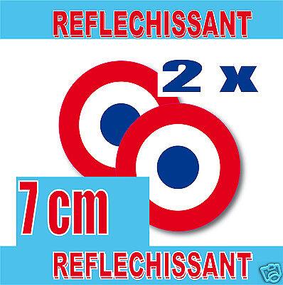 Gemotiveerd Lot 2 Cocardes Rétro-réfléchissantes 70mm Sticker Inch = 2.95 Reflectiv