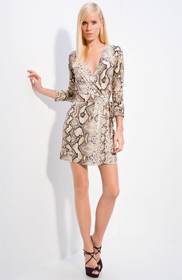 DropDead Gorgeous Sexy JUST CAVALLI Python Snake Print Wrap Dress L