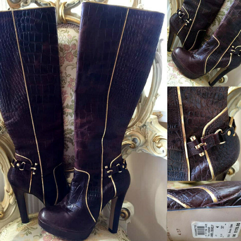 Ltd Edition RIVER ISLAND braun LEATHER Stiefel  COMPLETELY SOLD-OUT WORN ONCE