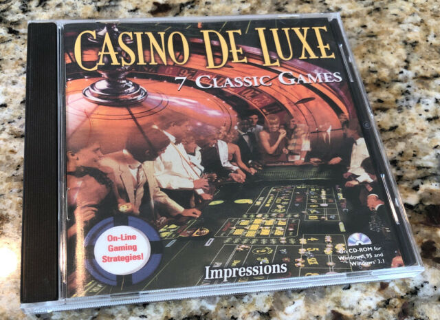Casino De Luxe 7 Classic Games Pc Cd Rom For Windows 3 1 95 No Scratches For Sale Online
