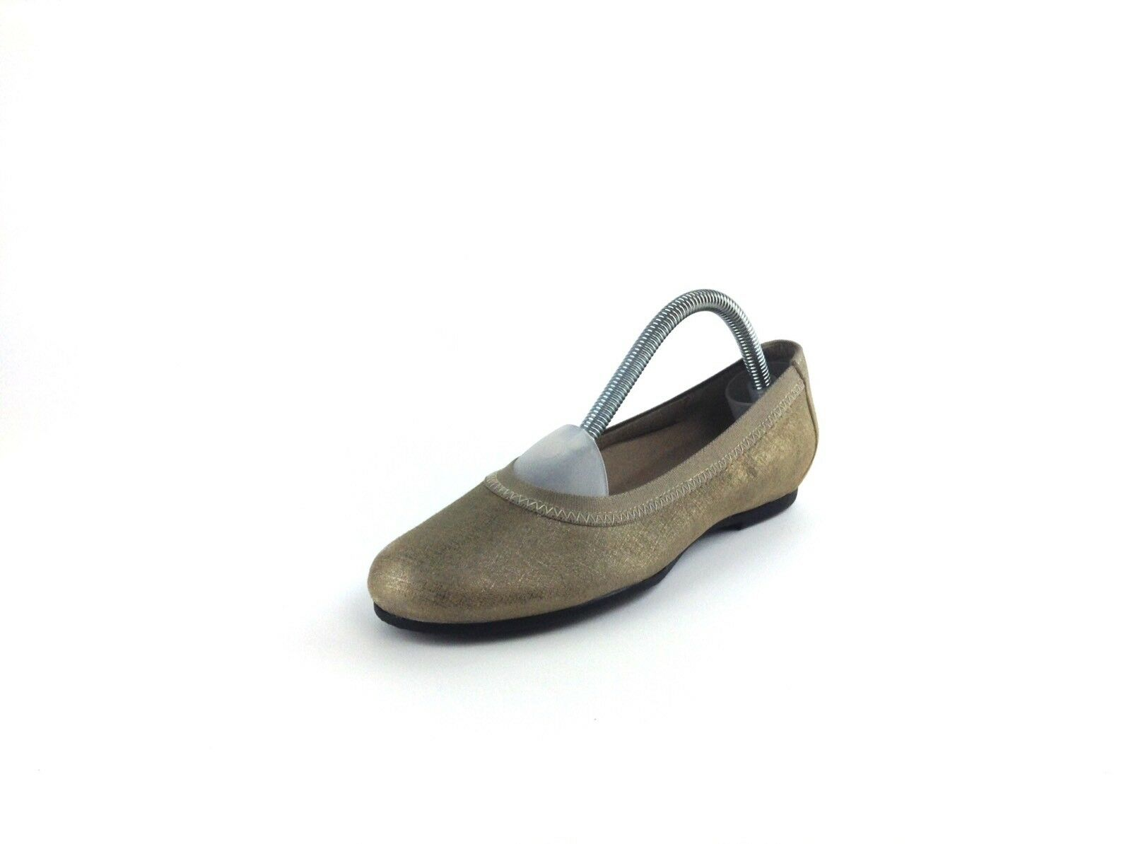Munro Womens Taupe beige Sparkle Flats 5 1 2 M