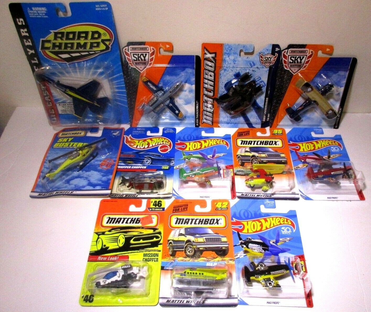 Hot Wheels Matchbox Sky Busters Diecast Military Planes Jets F-18 F-18 F-18 Helicopter Lot b3dad7