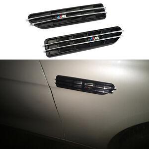 2x Car Styling Shark Gill Air Flow Fender Side Vent M Logo