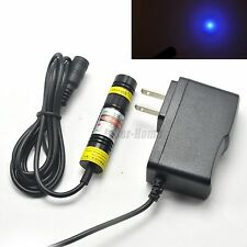 200mW Focusable 405nm Blue/Violet Dot Laser Diode Module w/ AC Adapter