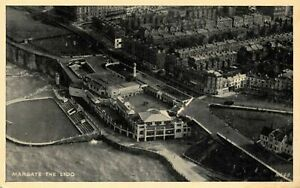 Vintage-Kent-Postcard-The-Lido-Margate-from-the-Air-AI1