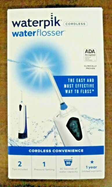 Waterpik Waterflosser Cordless Rechargeable WP-360W New In the Box Free Shipping