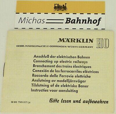 Intellective Märklin Seguito Delle Passate Elettrici Istruzioni 68 600 Tnn 0171 Ju å-mostra Il Titolo Originale Lustro