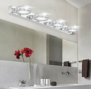 Modern bathroom crystal lights wall led lamps fashion cabinet mirror image is loading modern bathroom crystal lights wall led lamps fashion aloadofball Image collections