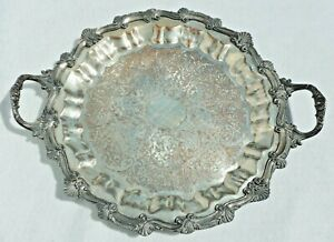 Large-Antique-Hartford-Sterling-Silver-Plate-on-Copper-Serving-Tray-Early-1900s