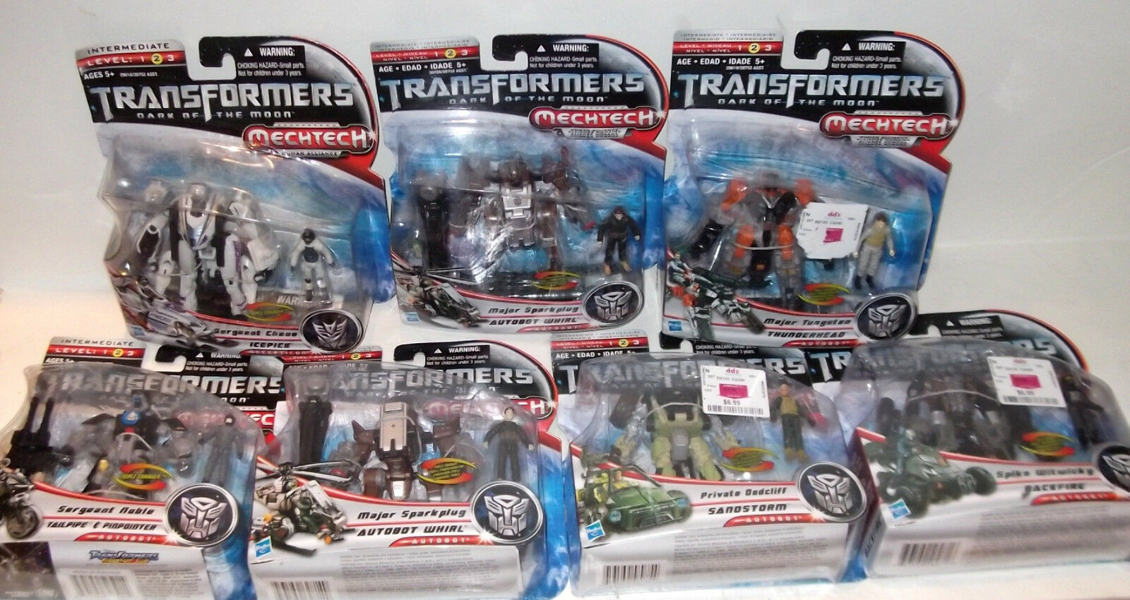 Transformers Mechtech LOT OF 6 HARD-TO-FIND Figures - all SEALED noble sparkplug