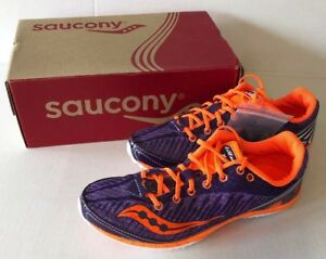 Details about +Saucony Womens Kilkenny XC5 Cross Country Distance Spike Orange Purple Sz 5 7