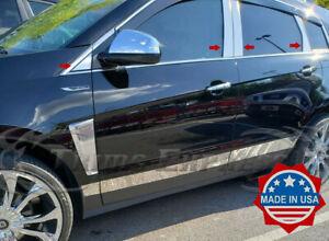 2010-2016-Cadillac-SRX-Chrome-8Pc-Pillar-Post-Stainless-Steel-Trim-Door-Cover