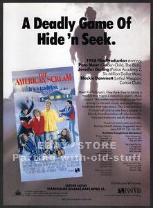 THE-AMERICAN-SCREAM-Original-1989-Trade-print-AD-promo-EDY-WILLIAMS-DEBRA-LAMB