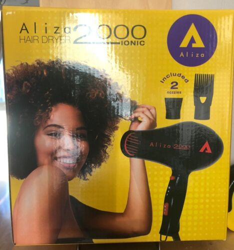 ALIZA IONIC 2000 AFRO HAIR DRYER POWERFUL 3 TEMP SETTINGS QUALITY NEW IN THE BO