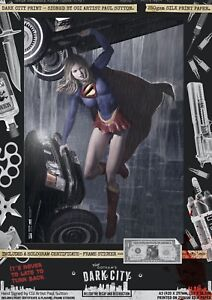 Supergirl-II-Kara-Zor-El-Sexy-Dark-City-Var-Signed-Comic-Print-Superman-DC-Cars