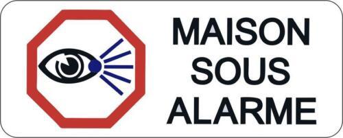 Autocollant sticker porte portail maison residence alarme surveillance panneau