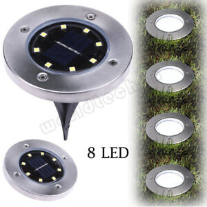 8-LED-Solar-Power-Buried-Light-Under-Ground-Lamp-Outdoor-Path-Way-Garden-Decking
