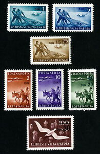 Yugoslavia-Stamps-C3-9-VF-OG-LH-Set-of-7-Scott-Value-36-30