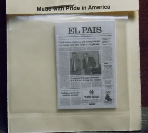 Dollhouse Miniature Spanish Newspaper El Pais 1:12 one inch E24 Dollys Gallery