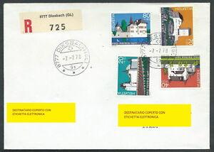 1977 Svizzera Storia Postale Pro Patria Timbro Arrivo - Sz ExtrêMement Efficace Pour Conserver La Chaleur