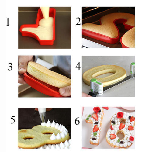 Silicone Numbers Cake Mould Pan Baking Tin Birthday Party Silica Cake Mould DIY