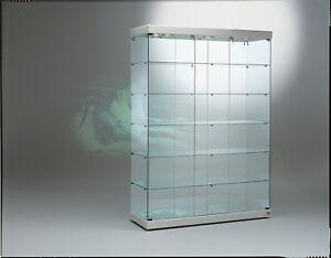 Dettagli su Vetrina Vetrinetta Espositore Display Showcase Vetro serratura  vetro cristallo