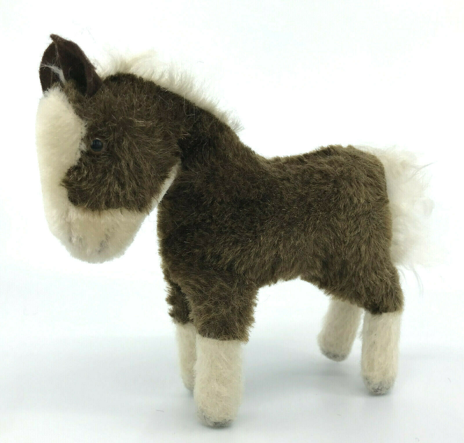 Steiff Ferdy Play Horse Pony Mohair Plush 18cm 7in 1960s no ID Vintage