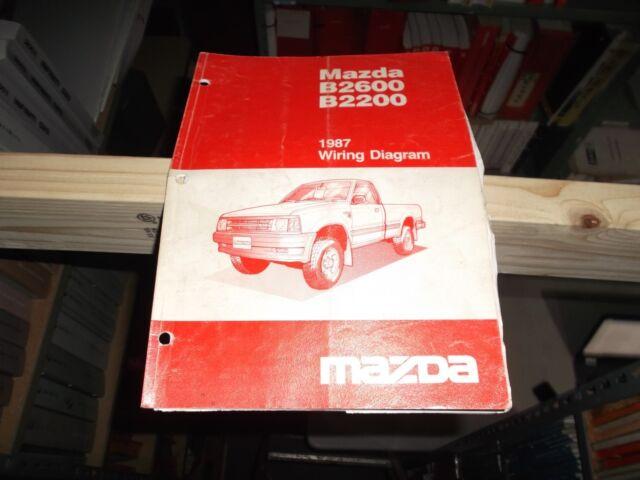 1987 Mazda B2200 B2600 Pickup Truck Electrical Wiring Diagram Manual