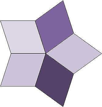 Patchwork-Quilt-Papier-Schablonen-paper-piecing-Raute-72-5-zackiger-Stern