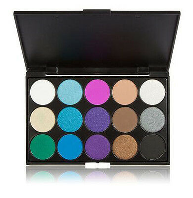 15 COLOURS EYESHADOW PALETTE Smokey Eye Nude/White/Brown/Black/Purple/Blue #3