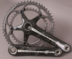 Campagnolo-Athena-11-Speed-Road-Bike-Carbon-Fiber-Crankset-175-39-53-Black-NOS