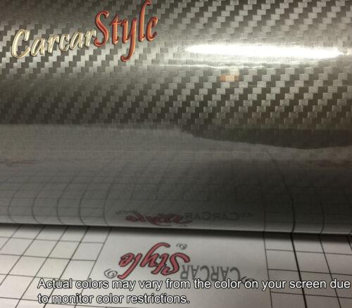 5D Brillant Gris 1520mm 59,8 dans en fibre de Carbone Vinyle Wrap Autocollant 23,6 x 600mm