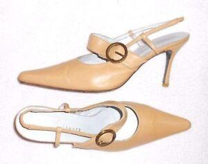 chaussures de sport 45031 2a848 Détails sur REBECA SANVER escarpins « pied fin » cuir beige P 41 TBE