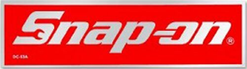 Official Licensed Snap On Tools Logo Sticker / w Chrome Styled Border 3 x 1 Inch