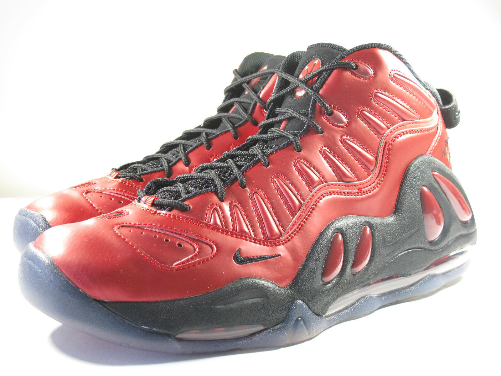 DS NIKE 2010 AIR UPTEMPO 97 VARSITY RED 8.5 FLIGHT TRAINER 90 1 TRAINER ZOOM 95