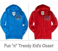Ps Aeropostale Boys Size 7 8 Kids Nyc Zip-front Sweatshirt Hoodie Red Blue