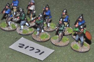 28 mm Renaissance / Anglais - Arquebusiers Infigurerie d'infanterie à 10 figurines (21771)