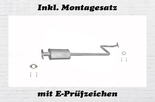 K11 1.0 1.4 Mittelschalldämpfer Auspuff Montagesatz Bj Nissan Micra II 00-03