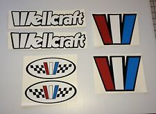 6  WELLCRAFT BOAT decals Emblem Marine Vinyl  6 declal set