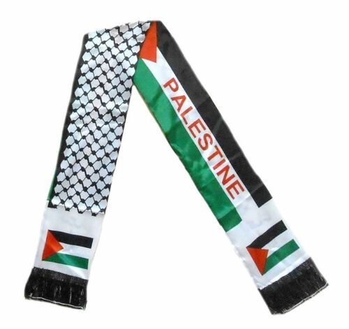 2 sides Neck Fashion Arabian Scarf Shawl Wrap 12 pieces Palestine flag scarf