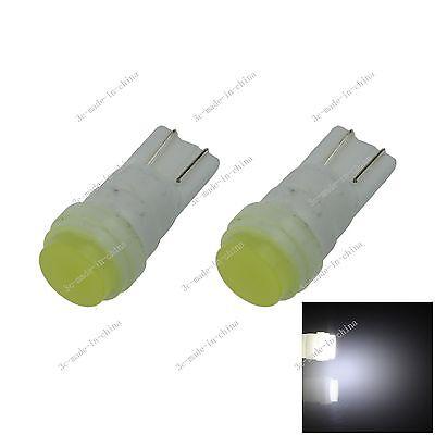 2X Car White 1 LED COB Ceramics Shell T10 W5W Wedge Side Light Bulb Lamp A072