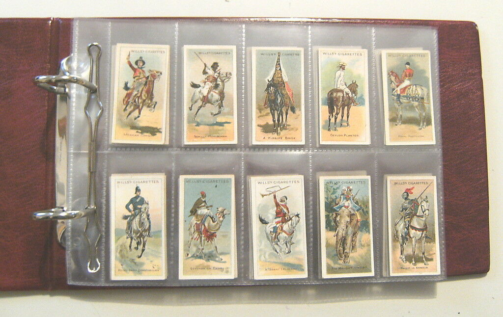 BB.  CIGARETTE CARD SET (50) - HORSE RIDERS OF THE WORLD, 1913 - ALBUM