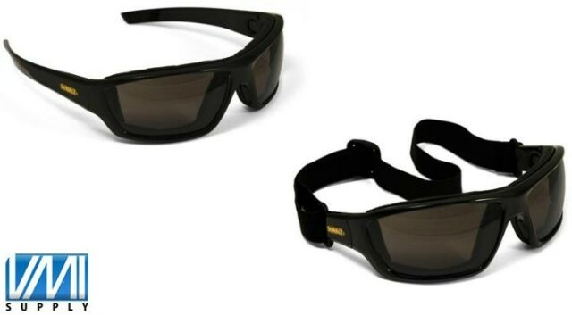 DEWALT DPG83-21 Converter Smoke Lens Safety Glasses Goggles Anti-Fog Foam Padded