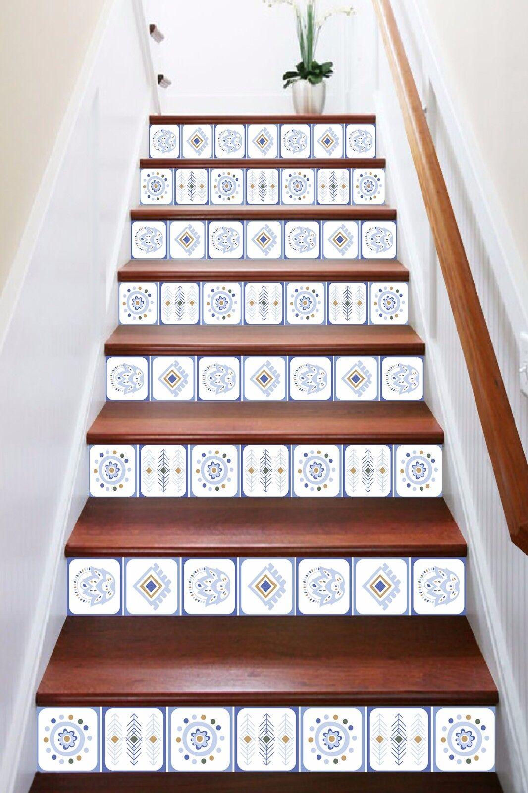 Patrón Mural azul 3D 308 tarjetas verticales Decoración Mural Patrón Foto escalera Vinilo Calcomanía Papel Tapiz de Reino Unido 1d1750
