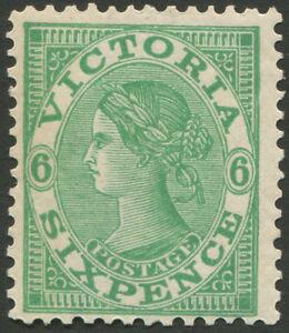 Victoria-1901-10-SG-392-variety-BW-V94j-6d-emerald-wmk-V