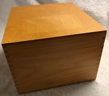 "PSI Wood Large File Box 10""x9""x6.5"" Hinged Lid Dovetail Corners & Lid Stop"