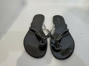 2d635dfadd Image is loading Guess-Womens-Black-Flip-Flop-Sandals-Size-10-