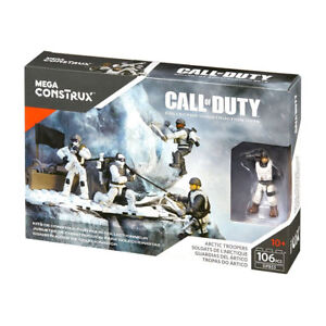 Courageux Mega Bloks Construx Call Of Duty Arctic Troopers Collector Construction Set-afficher Le Titre D'origine Handicap Structurel
