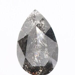 0.83ct Pear Rose Cut Salt and Pepper Diamond